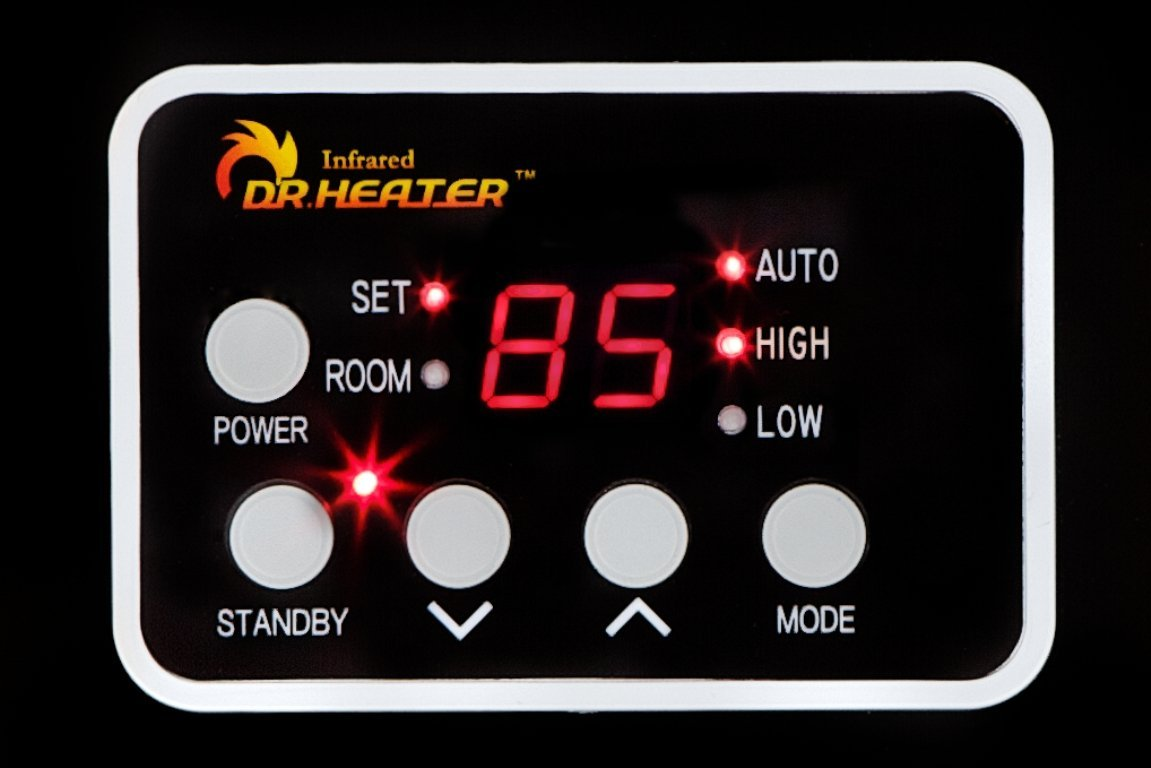 Dr. Infrared Heater DR968 Display