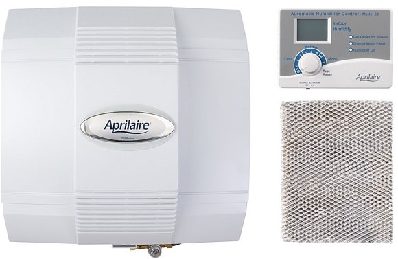 Aprilaire 700 Whole House Fan Powered Humidifier, Dual Sensor High Output Furnace Humidifier