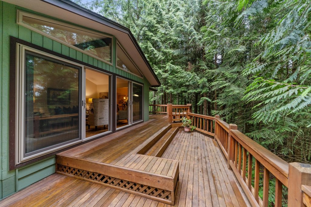 Open Wood Deck