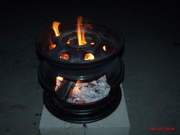 Car Rims Fire Pit