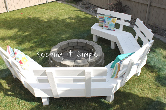 DIY Fire Pit Sofa Bench Cheap