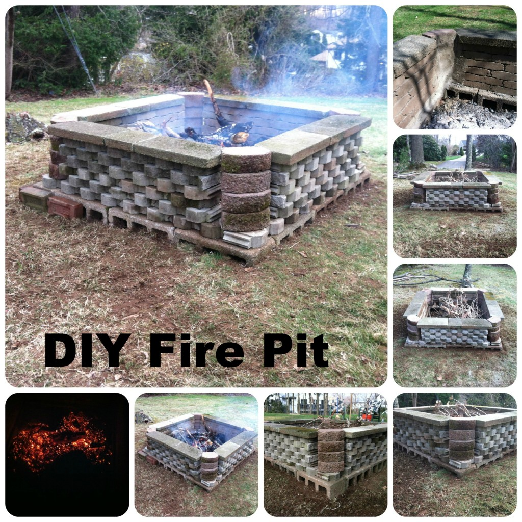 Large Cinder and Stone Fire Pit
