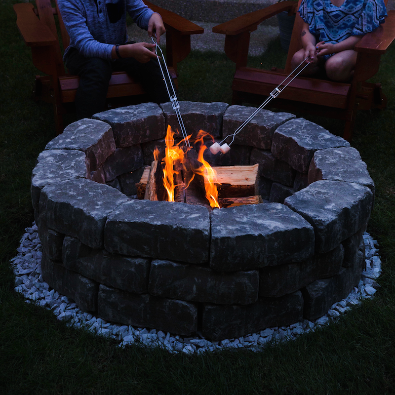 Medieval Looking Backyard Fire Pit