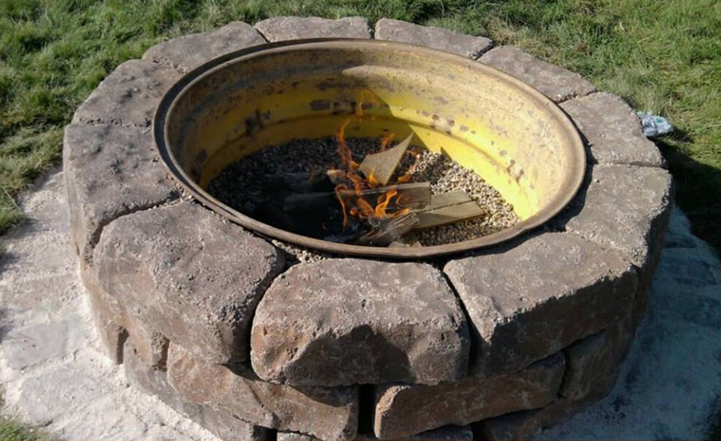 Tractor Wheel Fire Pit