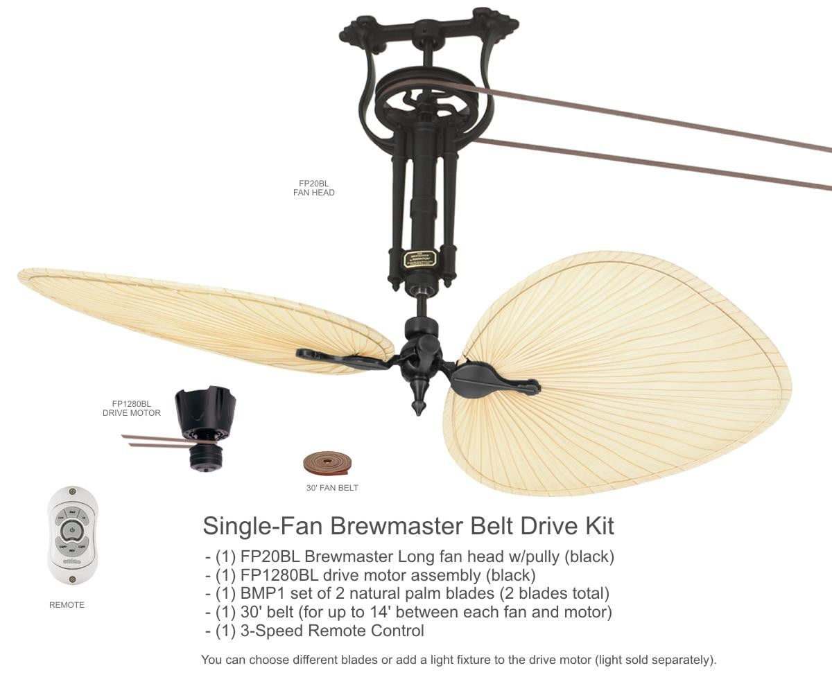 Fanimation Brewmaster Long Neck Ceiling Fan (FP1280BL-FP20BL-BMP1)