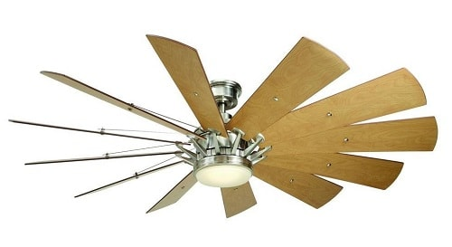 Home Decorators Collection Trudeau 60 in. LED Brushed Nickel Ceiling Fan