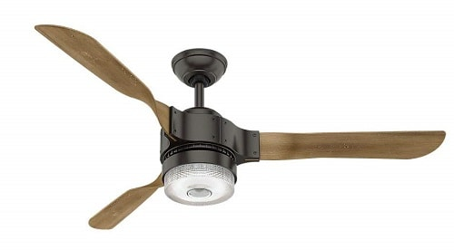 Hunter 59226 Apache Ceiling Fan with Light with Handheld Remote, 54-inch, Noble Bronze, works with Alexa