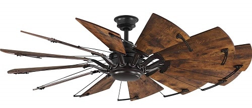 Progress Lighting P250000-129 Springer 60 inch Architectural Bronze with Distressed Walnut Blades Ceiling Fan