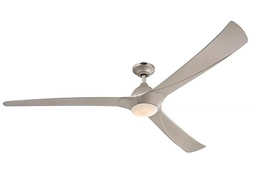Westinghouse 7203900 Contemporary Techno II 72 inch Titanium Indoor Dc Motor Ceiling Fan, Dimmable Led Light Kit with Opal Frosted Glass, Works with Alexa