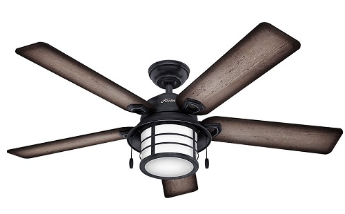 "Hunter 59135 Key Biscayne 54"" Weathered Zinc Ceiling Fan"