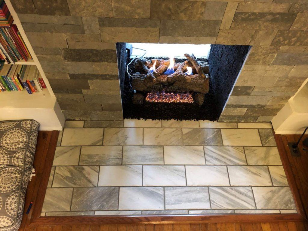 Ventless Gas Log Fireplace