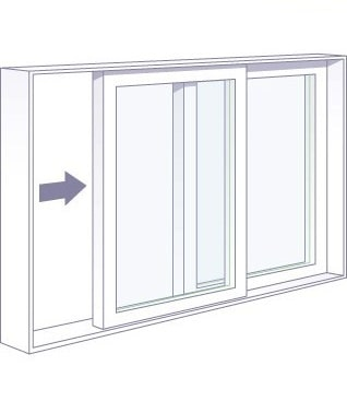 Horizontal Slider Window for Sliding Window AC