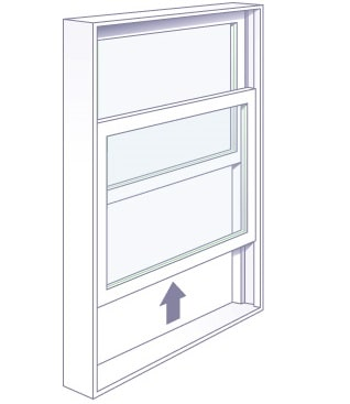 Vertical Slider Window for Sliding Window AC